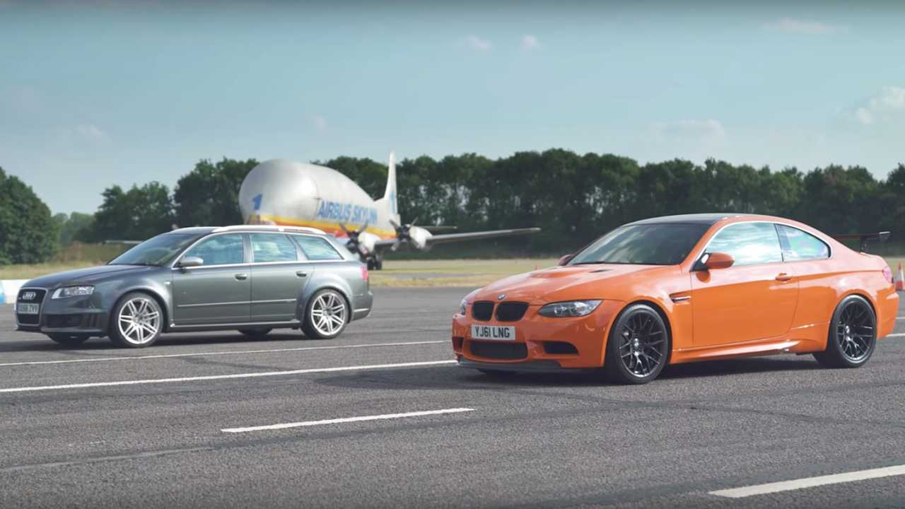 BMW E92 M3 GTS vs Audi RS4 B7 Drag Race