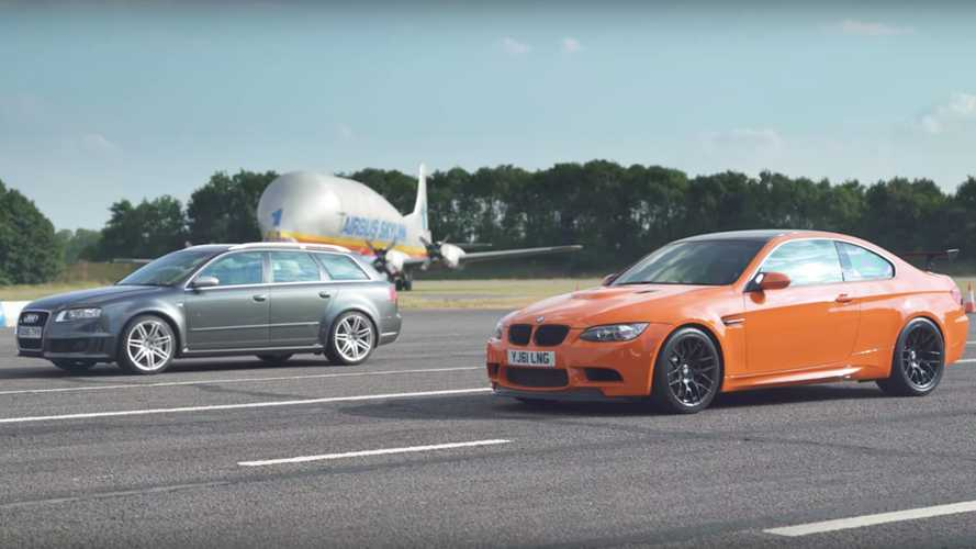BMW E92 M3 GTS Faces Audi RS4 B7 In Drag Race