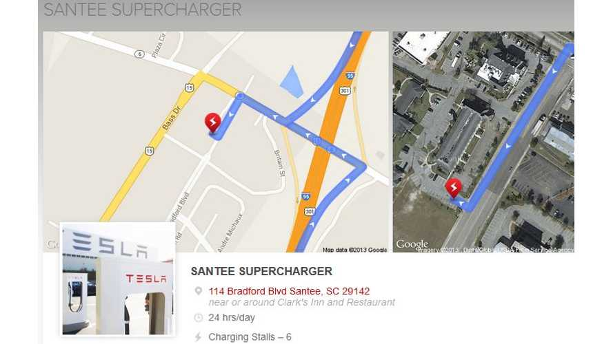 South Carolina Gets Its First Tesla Supercharger