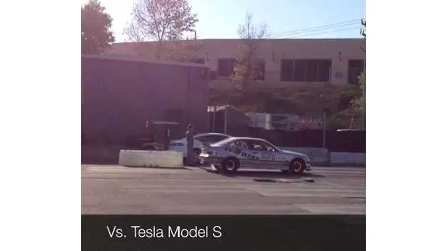 Video: EV West Electric BMW M3 Takes on ICE and Tesla Model S in 1/8-Mile Drag Race