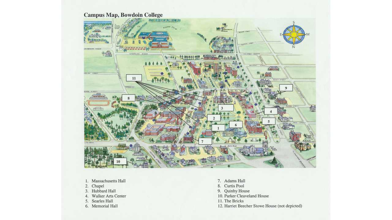 Bowdoin Campus Map Campus map, Bowdoin College | InsideEVs Photos