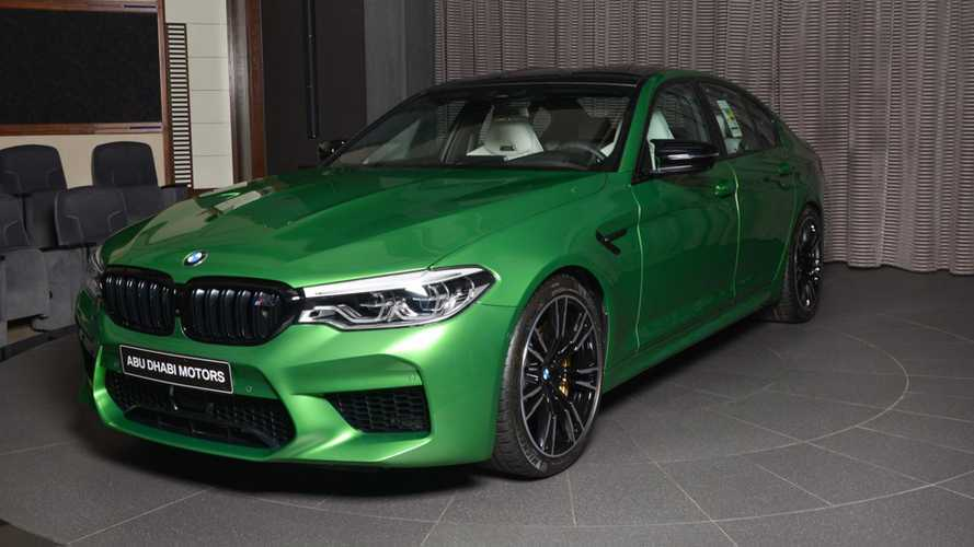 BMW M5 Competition In Rally Green