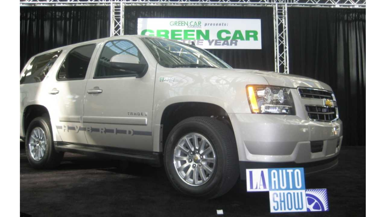 green car of the year chevrolet tahoe