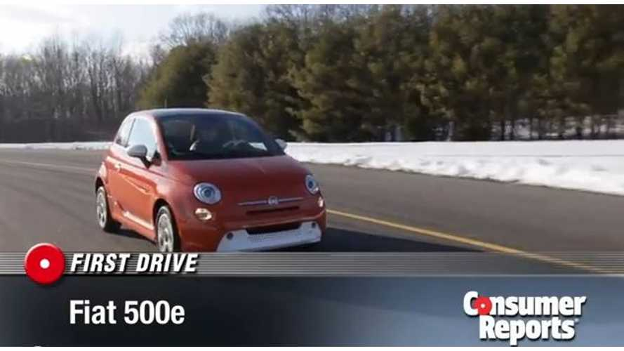 Video: Consumer Reports First Drive Fiat 500e; It's a Hoot to Drive