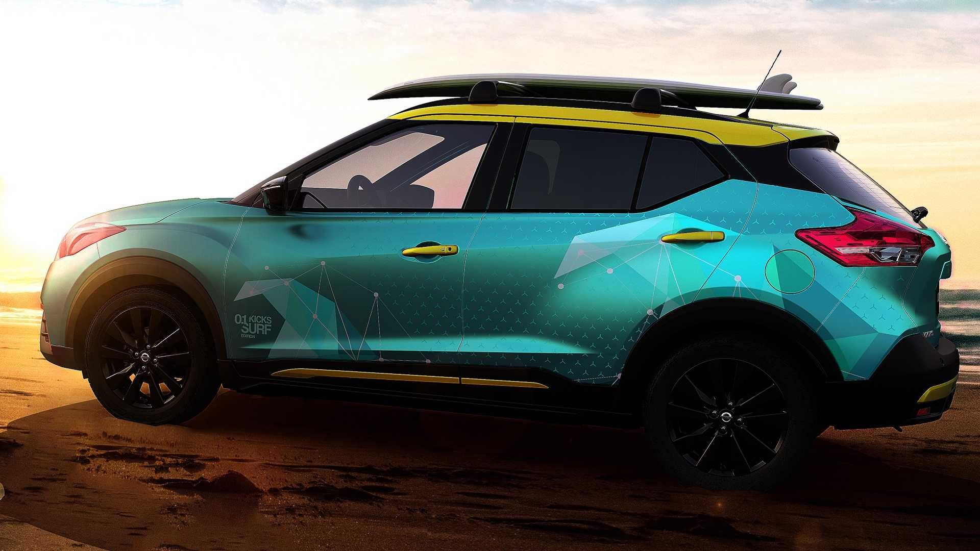Nissan Kicks Surf Concept Debuts With Portable Shower System