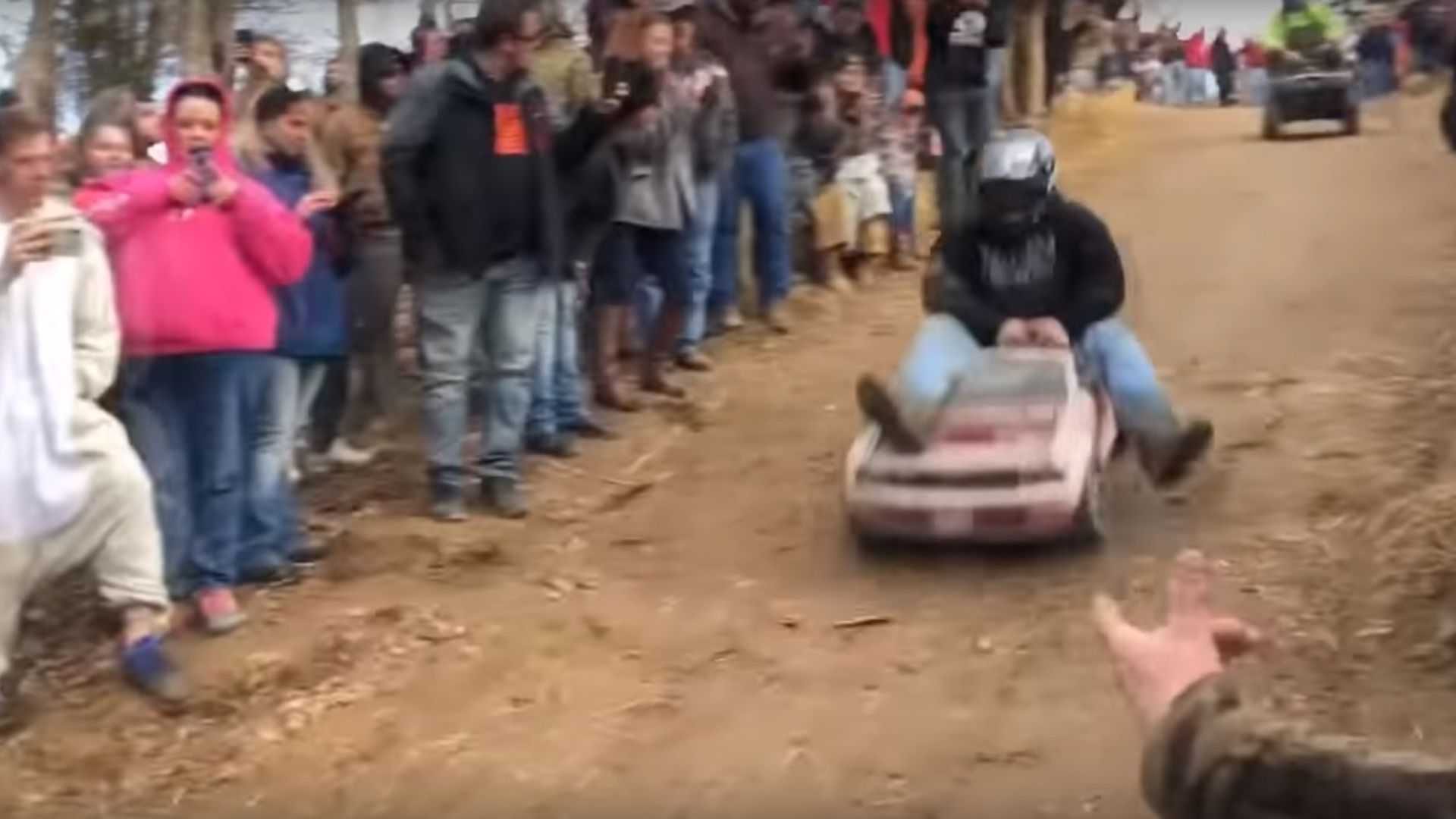 Downhill Power Wheels Race Looks Absolutely Savage