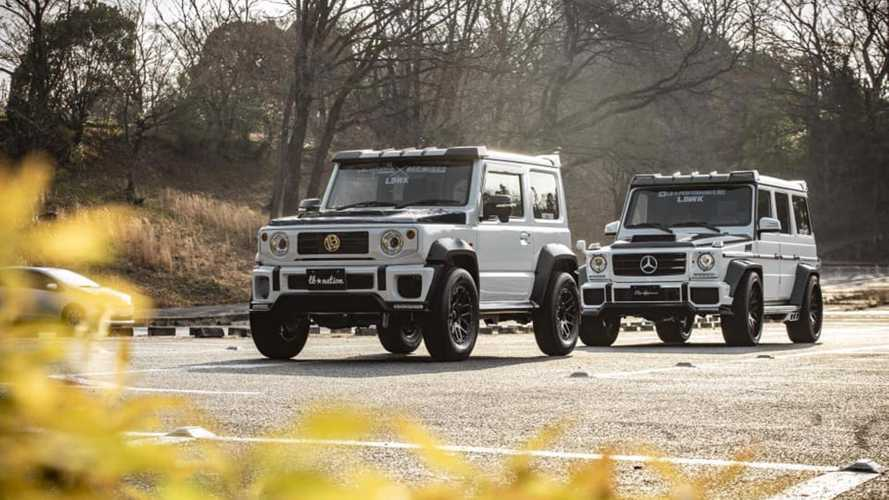 Tuned Suzuki Jimny G-Class Lookalike Meets The Real Thing