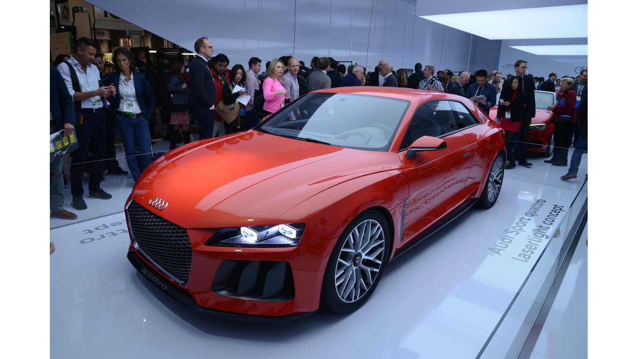Audi Sport Quattro Laserlight Concept Hits  the Stage At CES 2014 (w/videos)