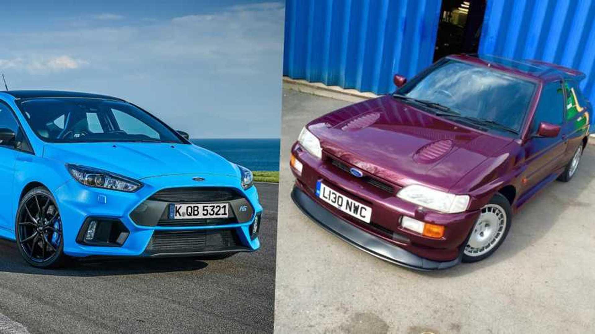 """[""""Escort Cosworth vs Focus RS""""]"""