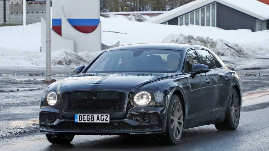 Bentley Flying Spur PHEV spy photos