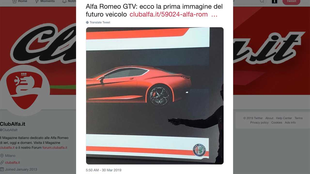 alleged alfa romeo gtv leaked image reveals very sexy rump. Black Bedroom Furniture Sets. Home Design Ideas