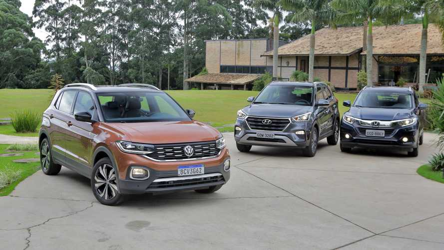 Honda HR-V x Hyundai Creta x VW T-Cross