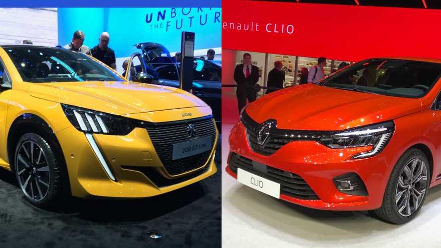 Peugeot 208 o Renault Clio? Il confronto dal Salone di Ginevra