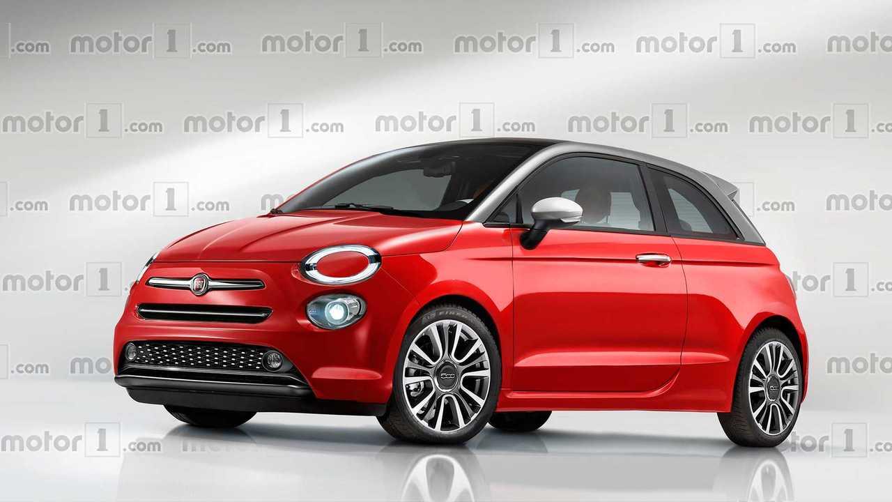 Nuova Fiat 500, il rendering