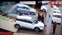 Watch Hyundai Smash Dealership Window And Hit Other Cars