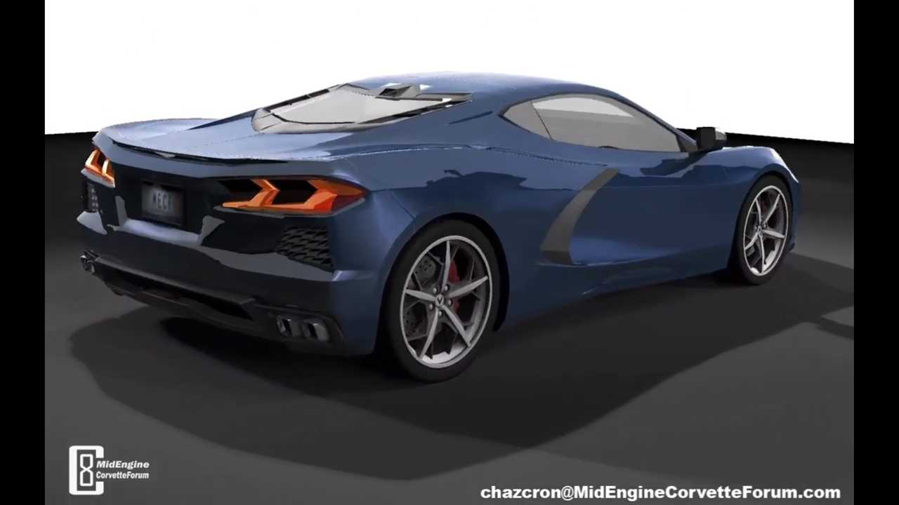 Mid Engine Corvette Render rear profile