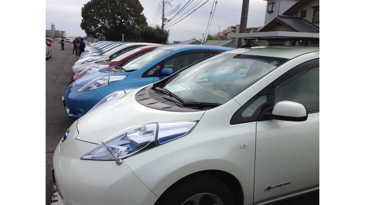 Nissan LEAFs Ready to be Sold