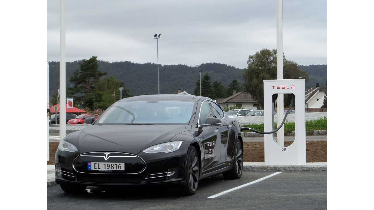 First Six Tesla Supercharger Stations Up And Runing in Norway; ~ 120 kW of Power