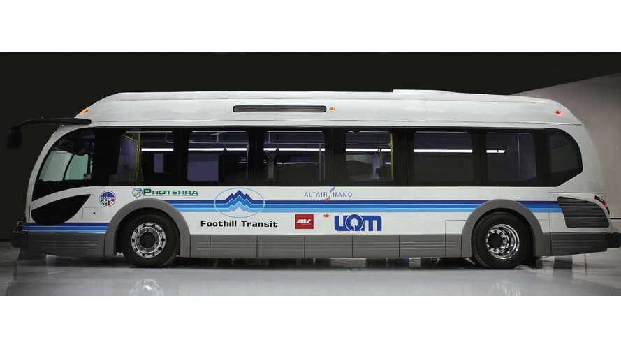 Proterra Announces Largest-Ever U.S. Order For Electric Buses