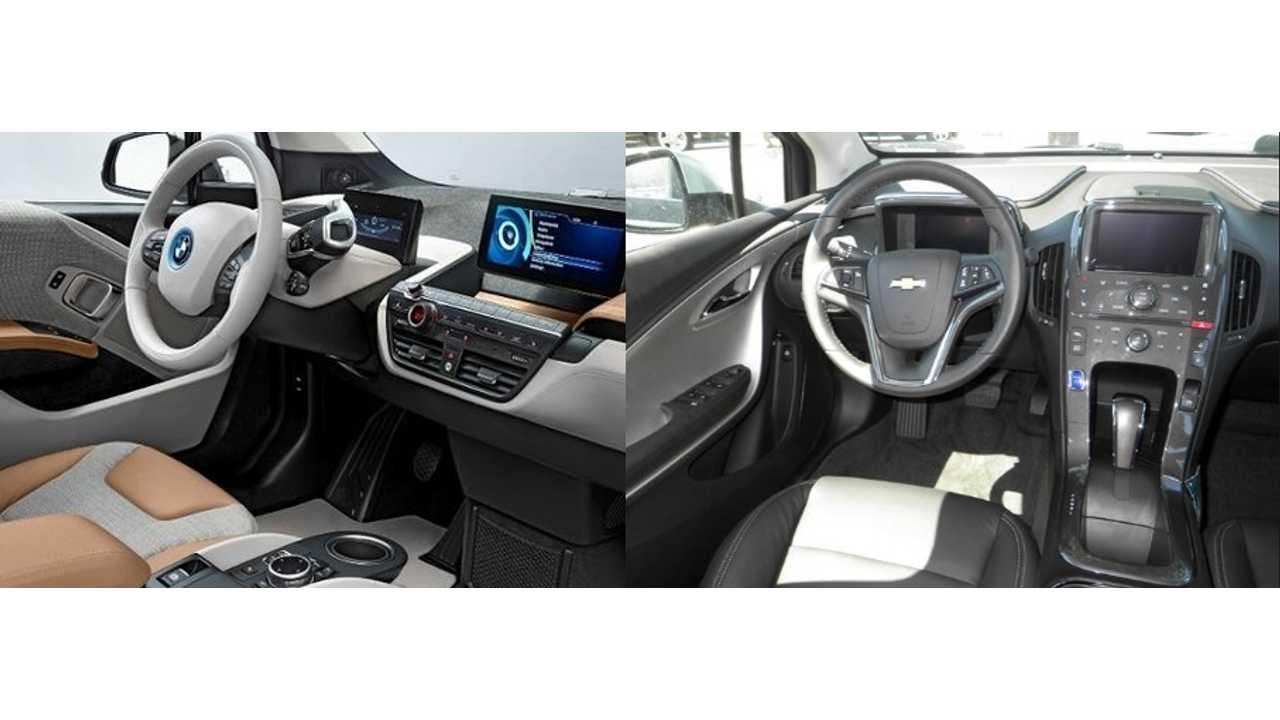 BMW i3 And Chevrolet Volt Interiors