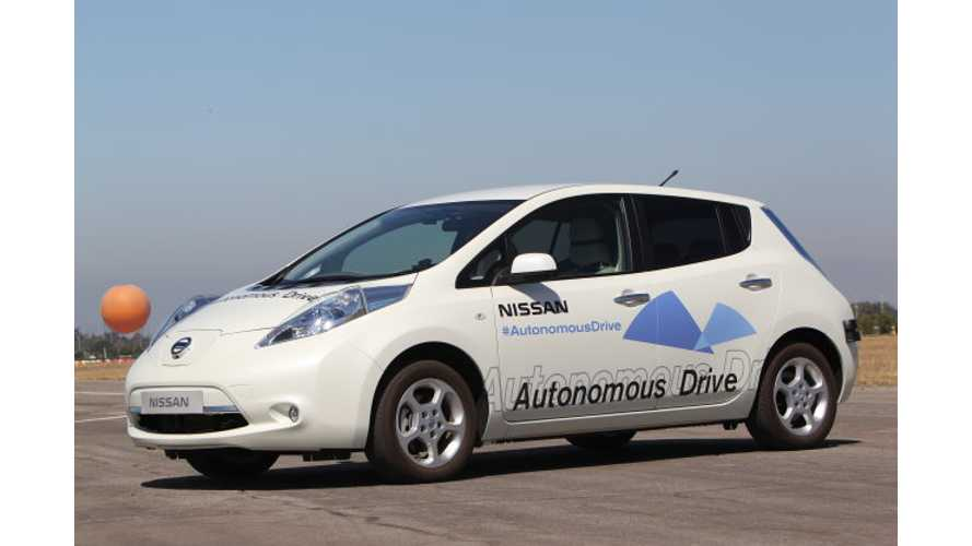 Nissan Unveils Autonomous Drive LEAF; Promises Tech Will be Available to Consumers by 2020 at a Realistic Price (w/video)