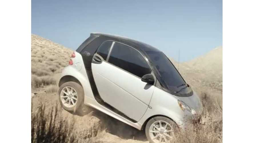 Video: Smart Fortwo Electric Drive Goes Offroading