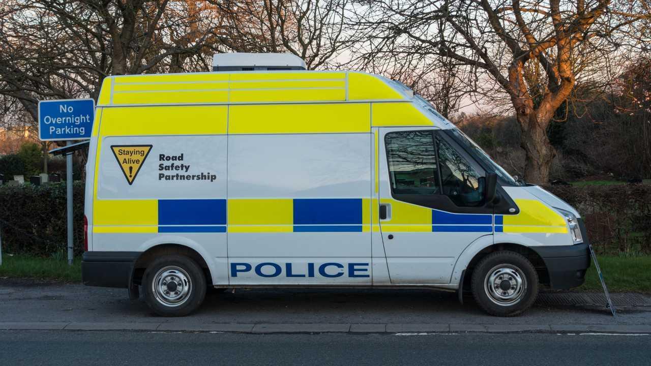 Police speed camera van in the UK