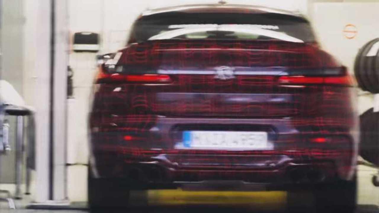 BMW X4 M screenshot from teaser video