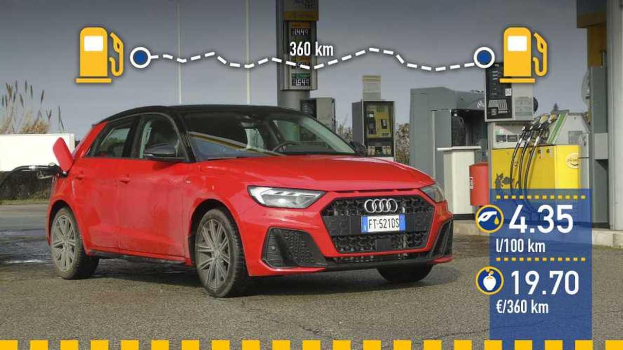 Prueba consumo Audi A1 Sportback 2019