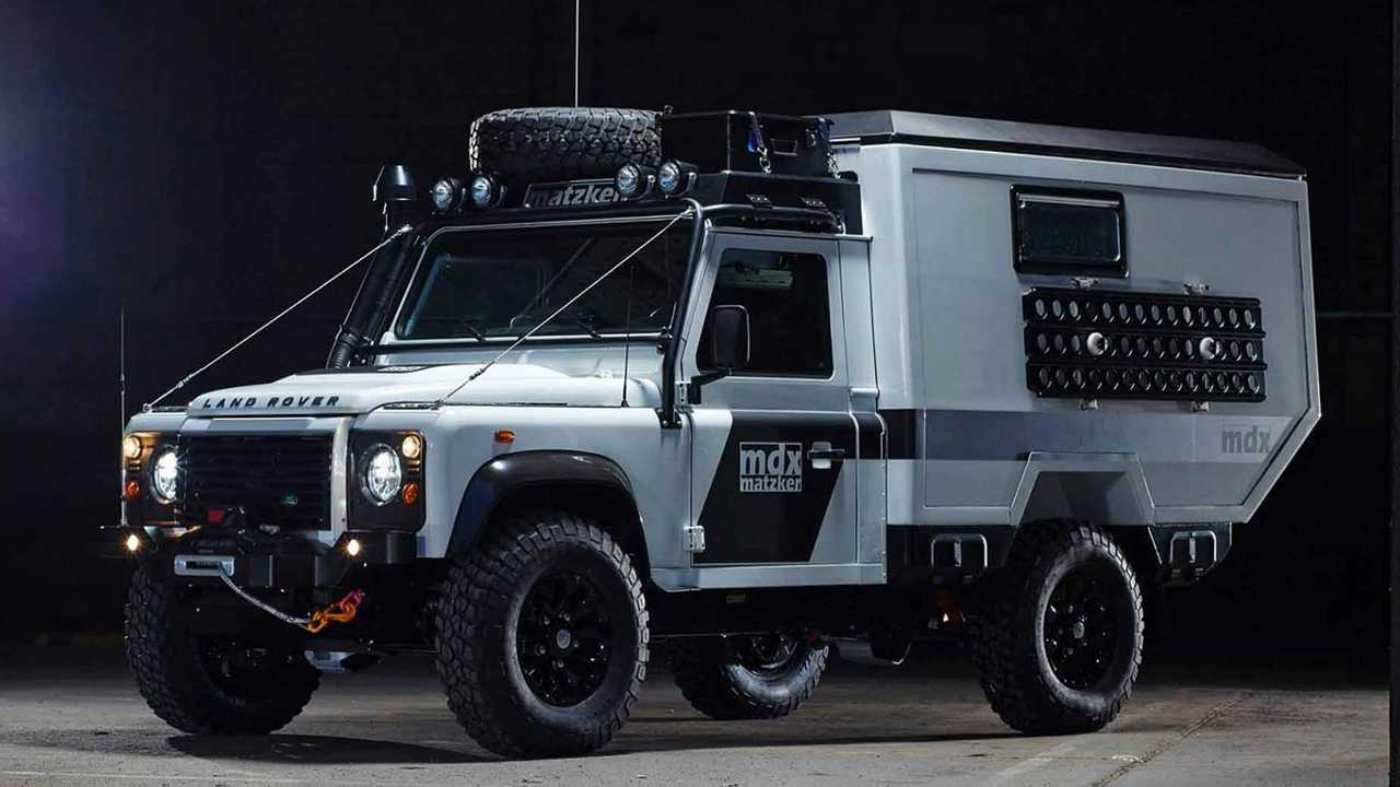 land rover defender gets camper makeover from matzker. Black Bedroom Furniture Sets. Home Design Ideas