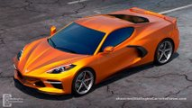 New mid-engined Corvette render