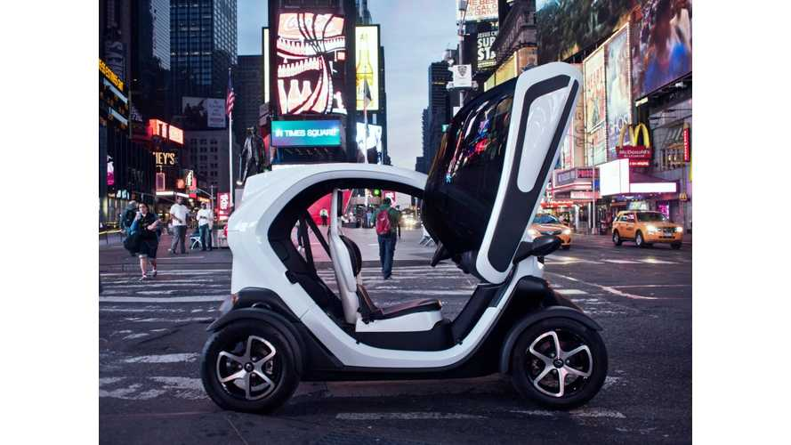 The Renault Twizy Visits New York, And Soon US Dealerships?