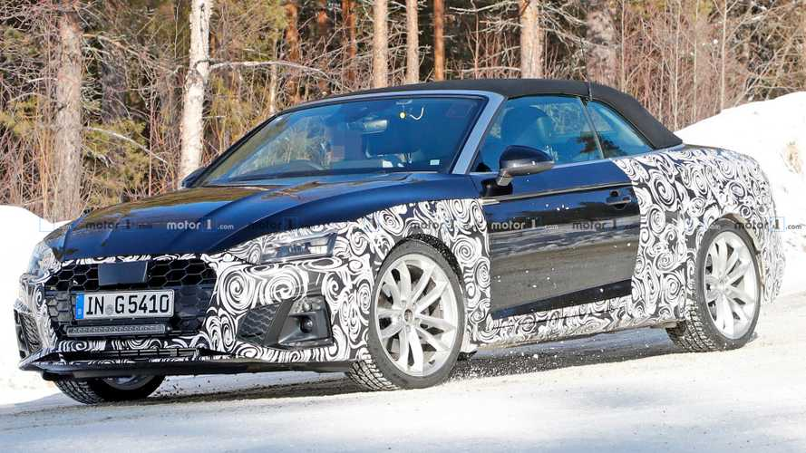 Audi A5 Cabriolet facelift makes spy photo debut