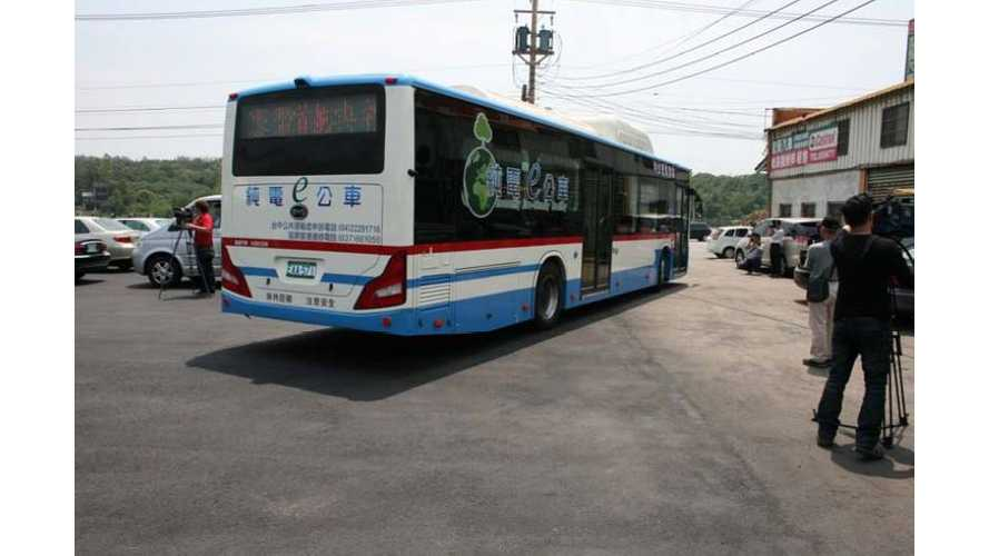 BYD Delivers Taiwan's First Electric Buses