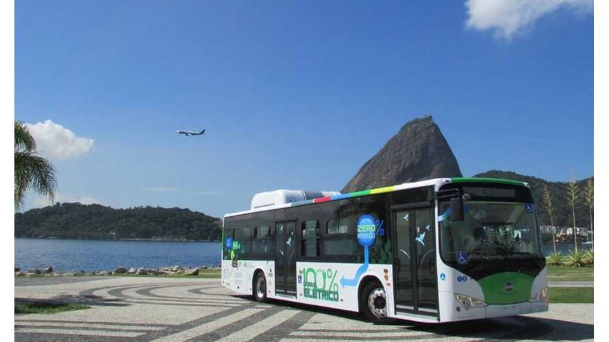 BYD Launches First All-Electric Bus in Rio de Janeiro
