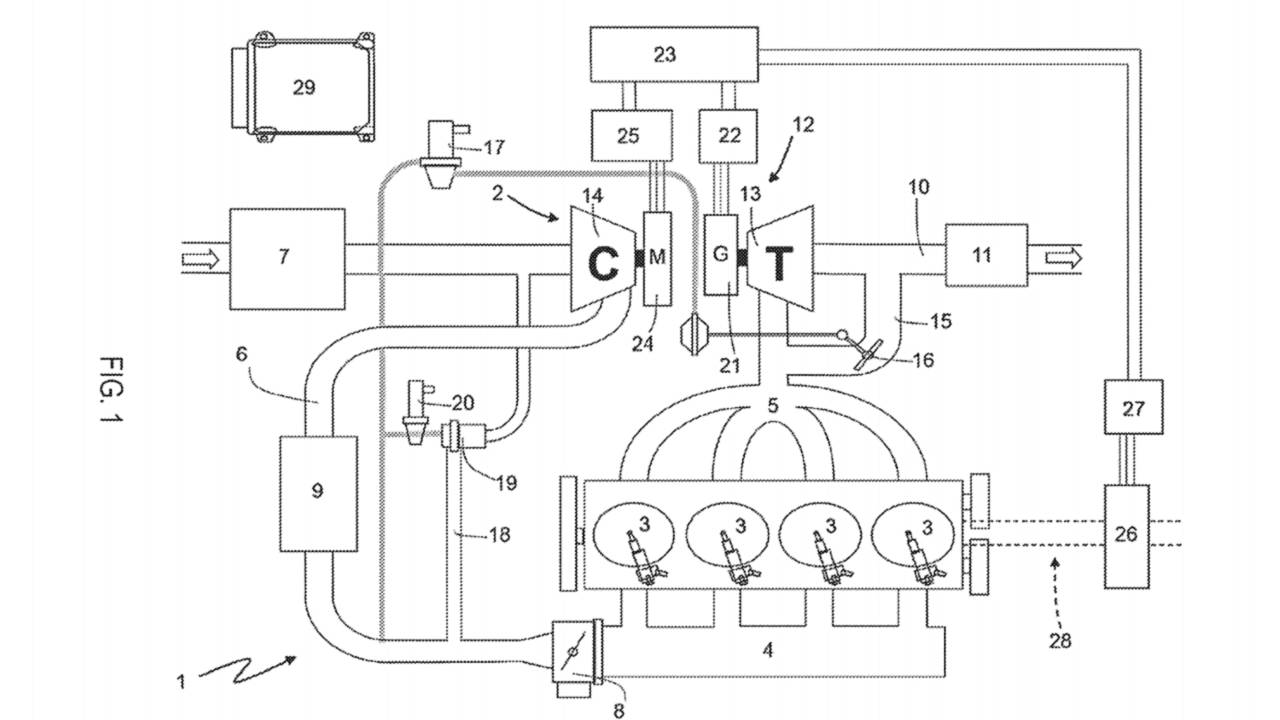 Ferrari Electric Turbo Patent
