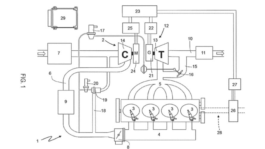 Ferrari Electric Turbo Patent