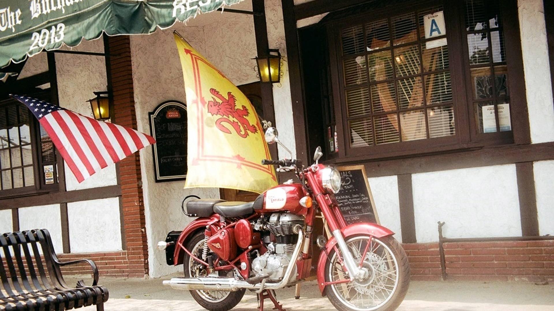 VINTAGE HONDA 500 MOTORCYCLE BANNER