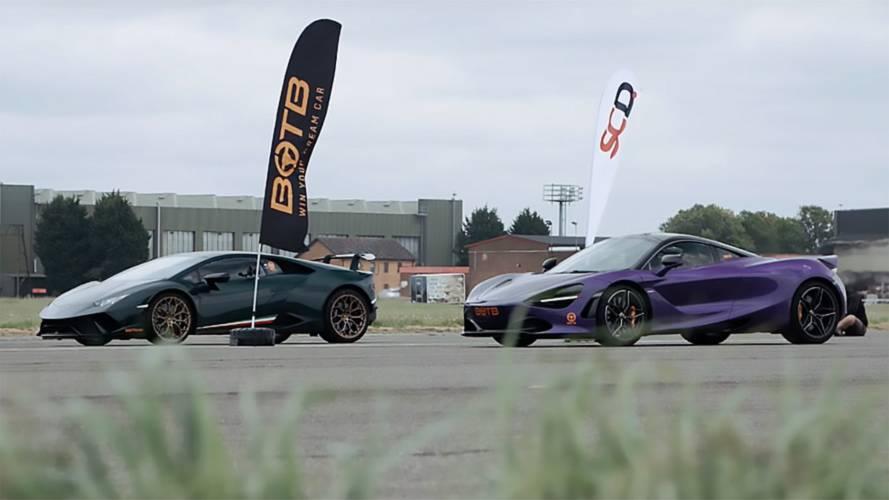 Lamborghini Huracan'ın, McLaren 720S ile yarışını izleyin