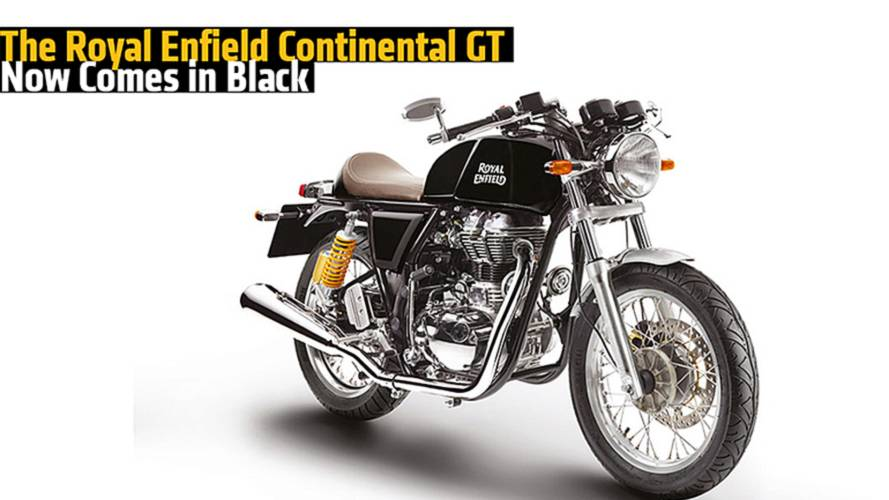 The Royal Enfield Continental GT Now Comes in Black