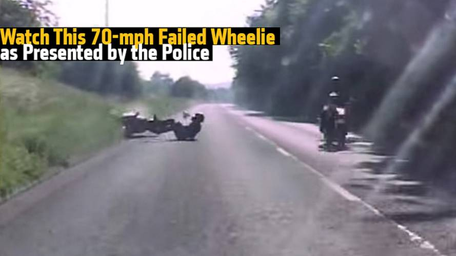 Watch This 70-mph Failed Wheelie as Presented by The Police