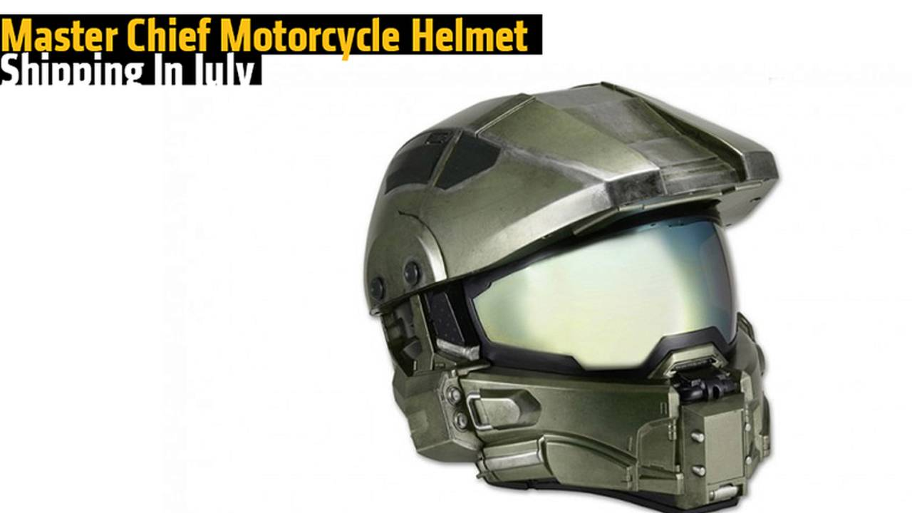 Master Chief Motorcycle Helmet Shipping In July
