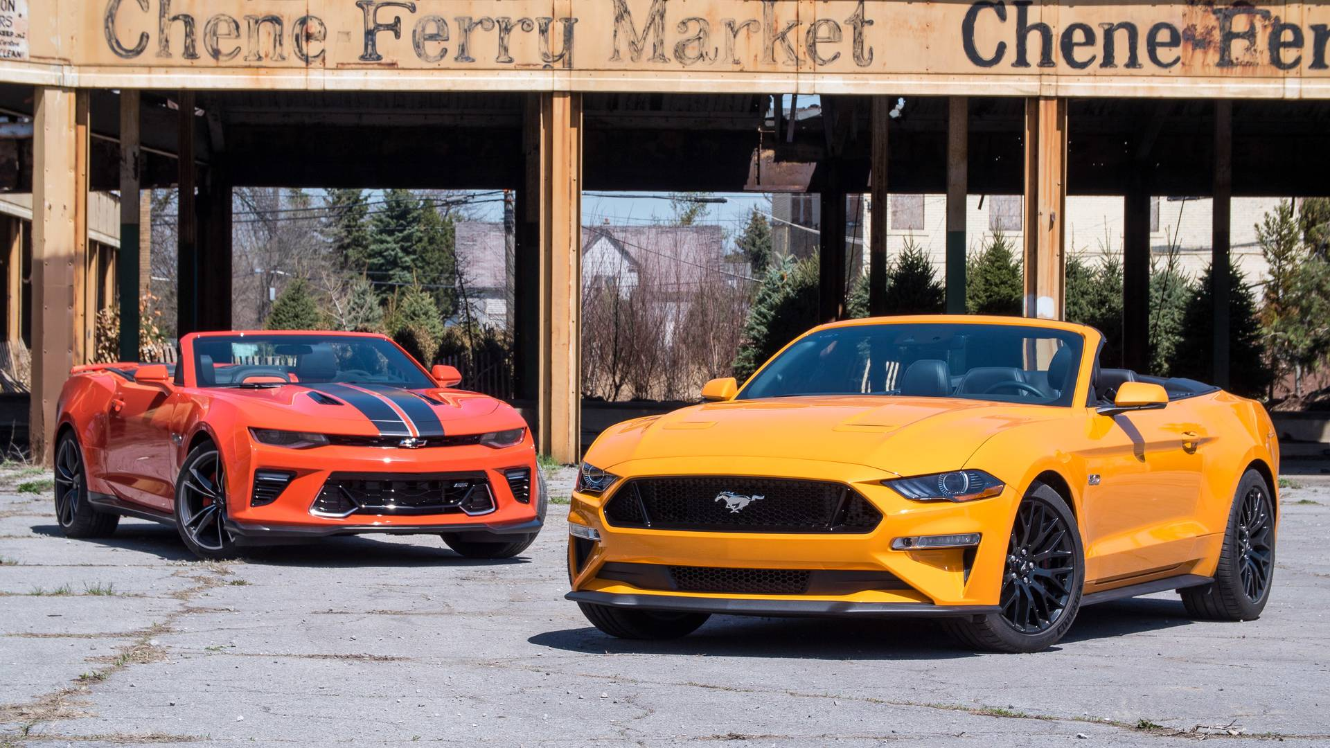 Chevy Camaro SS Vs  Ford Mustang GT: Top-Down Tussle