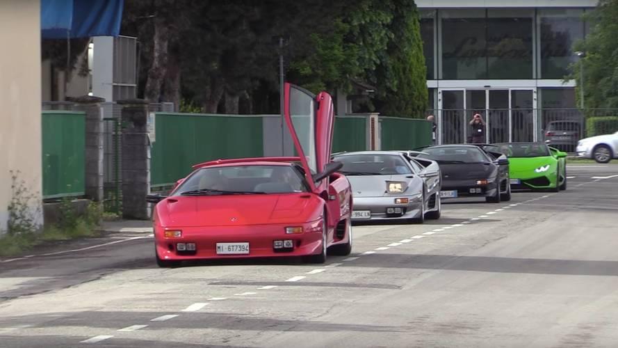70 Lamborghini rinden honores al medio siglo de Valentino Balboni