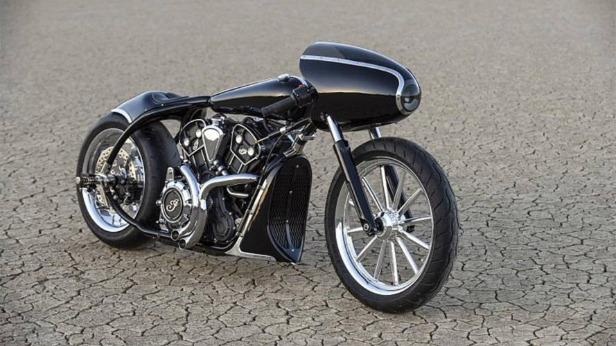 Indian rolls out Bonneville-bound Black Bullet Scout custom