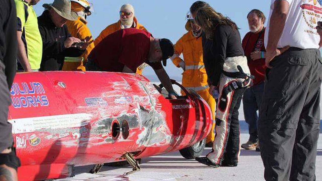 Video: Valerie Thompson Crashes During Land Speed Record Attempt