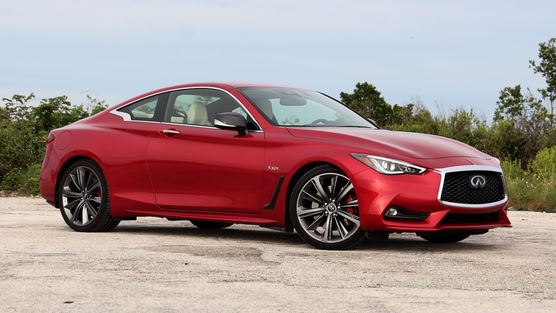 2018 Infiniti Q60 Red Sport 400 Review Skin Deep