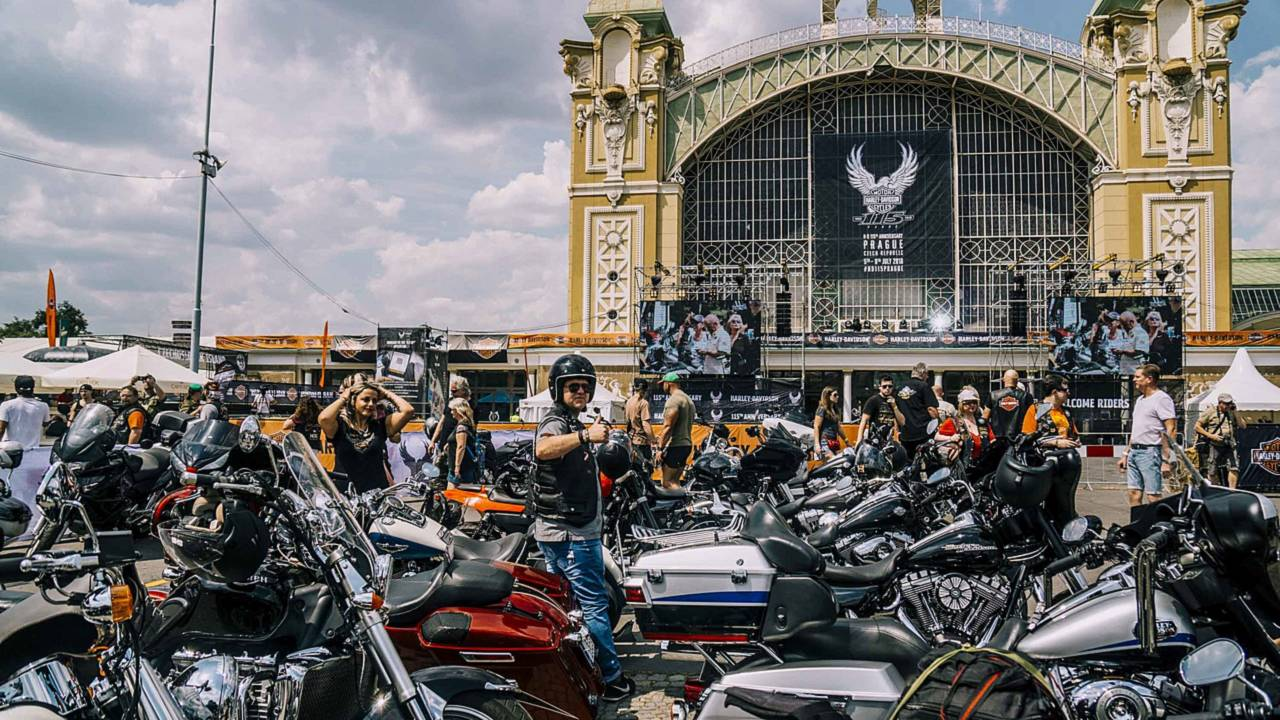All the Harleys! Tens of thousands of H-D enthusiasts are expected over the weekend in Prague.