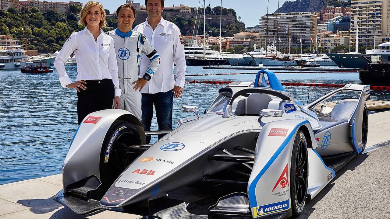 Susie Wolff, Team Principal Venturi Formula E Team, Felipe Massa, Venturi Formula E Team, Gildo Pallanca Pastor, owner Venturi Formula E Team