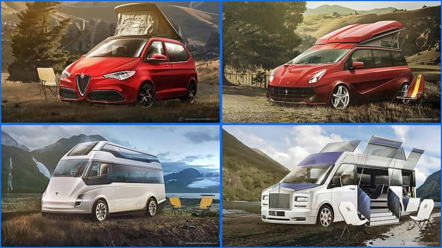 Imaginamos 7 furgonetas camperas de marcas Premium